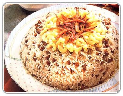 """Rice With lentil"" Kushari"
